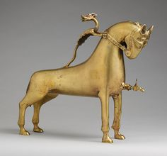 Aquamanile in the Form of a Horse, ca. 1400  German (Nuremberg)  Copper alloy