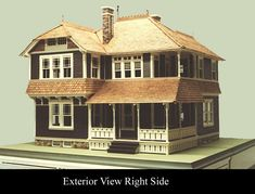 """$10,000. Or best offer. """"This ain't no dollhouse! This is a miniature Eastlake Victorian House that I created years ago from the blueprints of a renowned architect. This introduction will provide all the details of its construction and its provenance as well as how it came to be.""""   eBay!"""