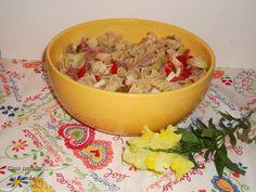 Cinco sentidos na cozinha: Salada fria de massa com tiras de porco, queijo e ...