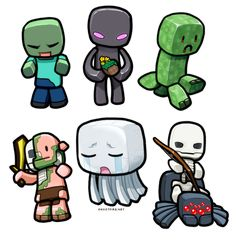Lil' Minecraft Monsters by ghostfire.deviantart.com