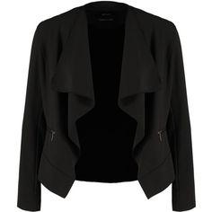 Opus JENNICA Blazer (595 DKK) ❤ liked on Polyvore featuring outerwear, jackets, blazers, blazer, tops, black, pocket jacket, pattern jacket, tall jackets and print blazer