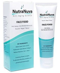 FACE FOOD - BEST Anti Aging Cream & Eye Wrinkle Moisturizer - Hyaluronic Acid, Vitamin C & E, PhytoCeramides, Peptides, Matrixyl 3000, Collagen, CoQ10 and more. Night or Day Natural Skin Care Product - For Men Too