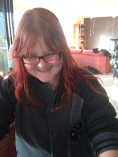 Aunty Caz having a giggle