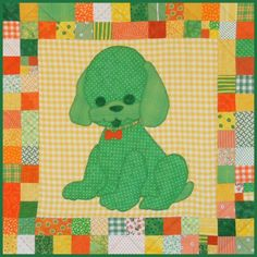 Dog Quilt Template | Pet Stuffies Dottie the Dog Baby Quilt Pattern
