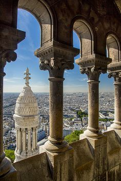 Sacre Cœur Basilica sits high atop a hill in Montmartre so one can have this spectacular view of Paris