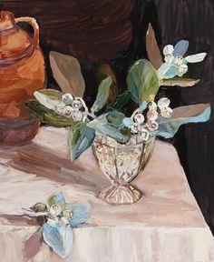 © Laura Jones ~ Tallerack in crystal vase ~ 2015 Oil on linen at Olsen Irwin Gallery Sydney Australia Art Floral, Australian Wildflowers, Still Life Flowers, Crystal Vase, Still Life Art, Thing 1, Australian Artists, Flower Art, Flower Mural