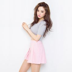 08a7745bdcc8 US $13.8 |2015 New Spring Summer Style Korean Hot Fashion Solid Mini  Pleated Skirts Faldas High Waist Skirt Sexy Short Saia Feminina T34-in  Skirts from ...