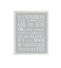 I need this for the boys room! so cute