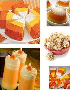 Halloween Sweet Treats - Candy Corn Recipes - i loveee halloween!