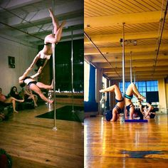 Bring your pole BFF significant other or friend that is just starting out in pole to Doubles Pole this Thursday at 6:00pm to learn how to do a partners pole dance! @bethany.time #pddoubles #acroyoga #polefun #bethanytime #poledoubles #doublespole #doublespoletrick #poletrick #pole #poledance #polefit #polefitness #dance #dancepartner #cleveland #cle #clevelandexoticdance #ced