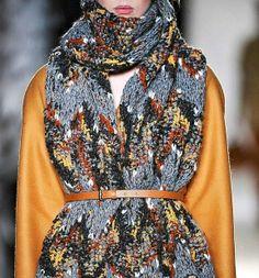 Erne knitted scarves