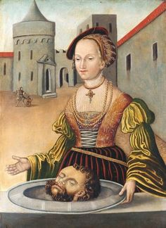 The Royal Collection: Salome with the Head of St John the Baptist School of Cranach Judith And Holofernes, German Costume, Lucas Cranach, Ideal Girl, The Royal Collection, Landsknecht, Renaissance Paintings, Crime, John The Baptist