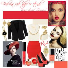 """red"" by doriana-d on Polyvore"
