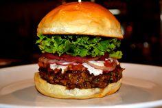 Wild Mushroom and Ground Lamb Tikka Masala Burger | Mushrooms On The Menu | Mushrooms at Foodservice  #MightyMushrooms