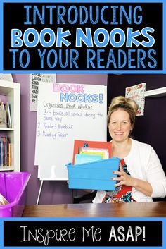 Do your students use book nooks or book boxes to keep all of their reading materials organized? In this video, I share how I introduce book nooks to my stude. Guided Reading Organization, Book Organization, Classroom Organization, Classroom Management, Readers Notebook, Readers Workshop, Reading Comprehension Activities, Teaching Reading, Book Boxes
