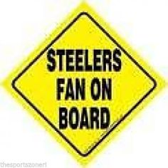 Pittsburgh Steelers Fan on Board Sign  ( Set of Two ) #PittsburghSteelers Visit our website for more: www.thesportszoneri.com