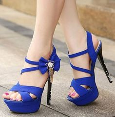 610b9a0771f82f black blue summer shoes woman fashion rhinestone high heels platform pumps  2014 ladies ankle strap Sandals for women