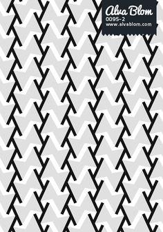Graphic Pattern from Alva Blom: Black, Grey  White