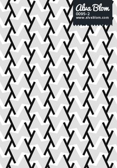 Graphic Pattern from Alva Blom: Black, Grey  White