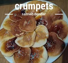 Crumpets recipe by Salmah Dendar posted on 18 May 2019 . Recipe has a rating of by 1 members and the recipe belongs in the Desserts, Sweet Meats recipes category Sweet Meat Recipe, Crumpet Recipe, Golden Syrup, Crumpets, Vanilla Essence, Food Categories, Melted Butter, Tarts, Fries