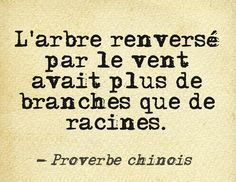 Proverbe chinois ...