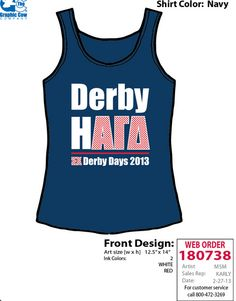 GT Alpha Gam Derby Days tank