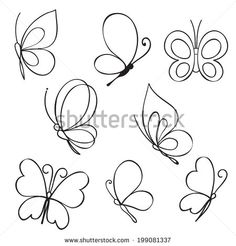 Butterfly doodle Stock Photos, Images, & Pictures | Shutterstock