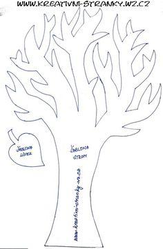 strom - šablona