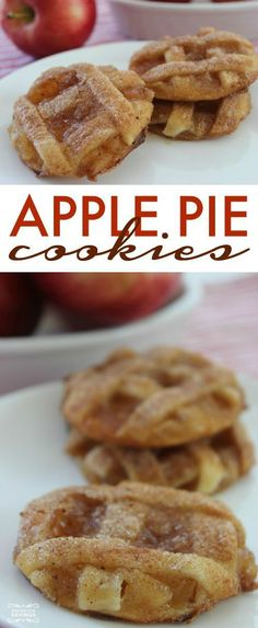 Easy desserts and Pie Recipe for Thanksgiving… Apple Pie Cookies Homemade Recipe! Easy desserts and Pie Recipe for Thanksgiving ro Christmas! Apple Pie Cookie Recipe, Apple Pie Cookies, Homemade Cookies, Cookies Et Biscuits, Homemade Recipe, Apple Pies, Recipe Recipe, Homemade Desserts, Apple Cake
