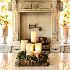 French Country Christmas, French Country Style, Candle Sconces, Greenery, Wall Lights, Candles, Instagram, Home Decor, Appliques