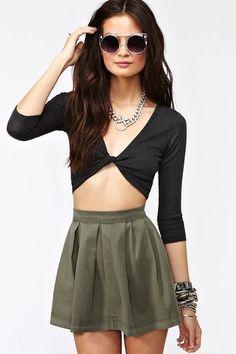 #nastygal.com             #Skirt                    #Varsity #Pleated #Skirt #Army #Green               Varsity Pleated Skirt - Army Green                                            http://www.seapai.com/product.aspx?PID=1499012
