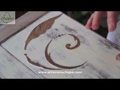 Recicla cajas de madera con pasta de relieve y Chalk paint - YouTube