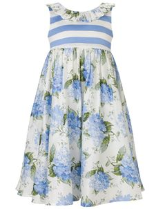 Kleid mit Hortensienaufdruck | Blau | Monsoon