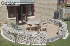 curved gabion walls, with planters http://www.gabion1.co.uk