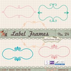 huge collection of free downloadable frames, borders and labels