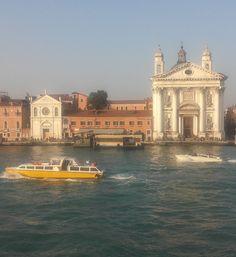 Greetings by Gesuati church - Saluti dal ferryboat passando dinnanzi alla chiesa di Santa Maria del Rosario, più nota come dei Gesuati