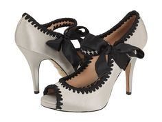 Betsey Johnson  Shoes.  i just got a sweeeeeettt black and white LBD and these would totally rock the whole outfit.
