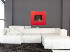 Faber Nissum Rood Hoogglans - Bijzondere wandhaard in rood hoogglans met moderne waterdamp techniek. Couch, Modern, Furniture, Home Decor, Settee, Trendy Tree, Decoration Home, Sofa, Room Decor