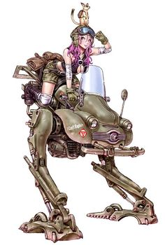 """I Can't Explain"" by Shina Yamashita. The walker is pure dieselpunk!"