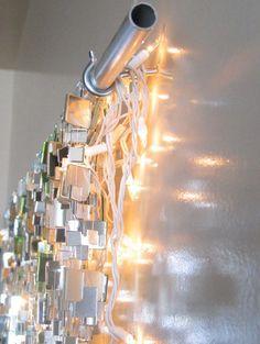 Sparkle Mirror Garland & White Lights