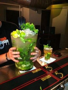 I think I asked for*large* Mojito. *Hello!* Look at the size of this thing.    Now that's a mojito!