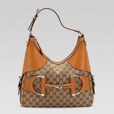 247604 Fwczg 9772 Gucci Heritage Kleine Hobo mit Trensen-und Web- Gucci Damen Handtaschen