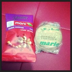 Food Adventure! :p Thank you Mr. Beidas. :D Nuts & Biscuits. ;) #geh #yummy #marie