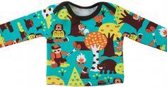 Tricot baby shirt in maat 56 t/m 92. Voorzien van een enveloppe hals, waardoor het shirt makkelijk aan- en uit te trekken is. Mat...