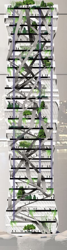 """A Vertical Spiral Tower to Help Calm Bustling Busan, South Korea 