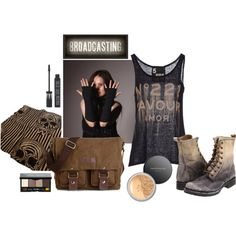 Thursday no 02 by anna-suchodolska on Polyvore featuring Alexander McQueen, 5 Preview, Frye, Bobbi Brown Cosmetics, Bare Escentuals, Topshop, Spicher and Company, casual, makeup and etsy