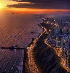 The Living. — Sunset in Lima, Peru Nature Water, Peru Travel, Sky And Clouds, Beautiful Sky, Instagram Images, Instagram Posts, Amazing, Sunrise, Around The Worlds