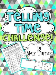 {FREE} Telling Time Challenge - Create a Schedule!--would be a great performance task or interactive notebook activity