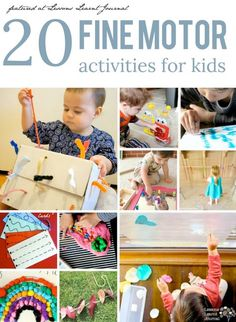 20 fun and creative fine motor activities for kids. Great ideas for building up prewriting skills, through play. via Lessons Learnt Journal