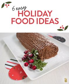 6 easy holiday food ideas that your family and guests will LOVE. #ChristmasIdeas